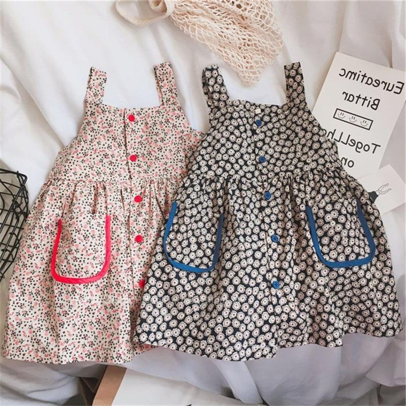 Girls 'dresss Flowers Dresses Princess Dresses Summer Dresses New Children's Wear  Kids Fashion  Dress Elegant
