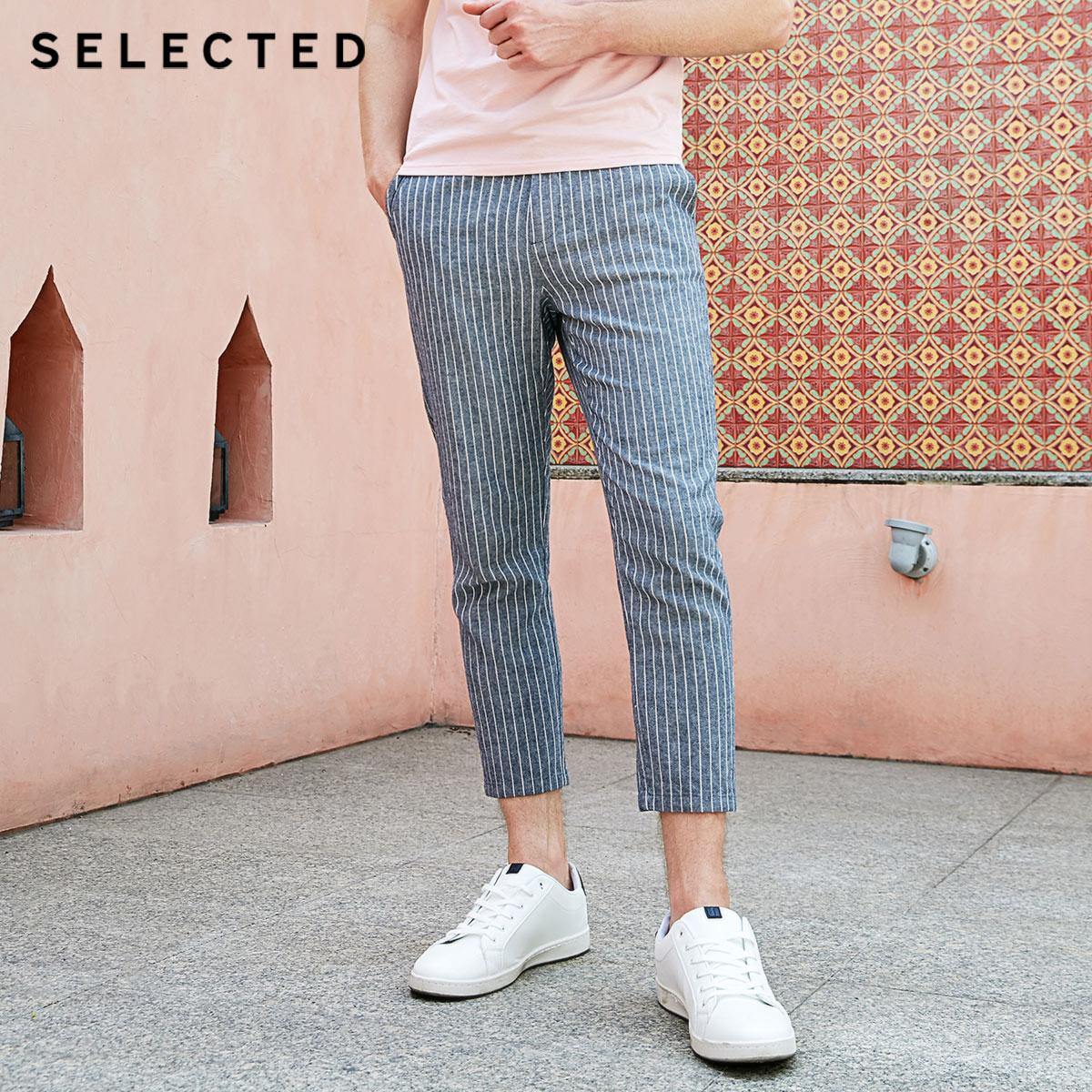 Pantalones cortos a rayas holgados de verano para hombre seleccionados S  419214544-in Pantalones pitillo from Ropa de hombre    1