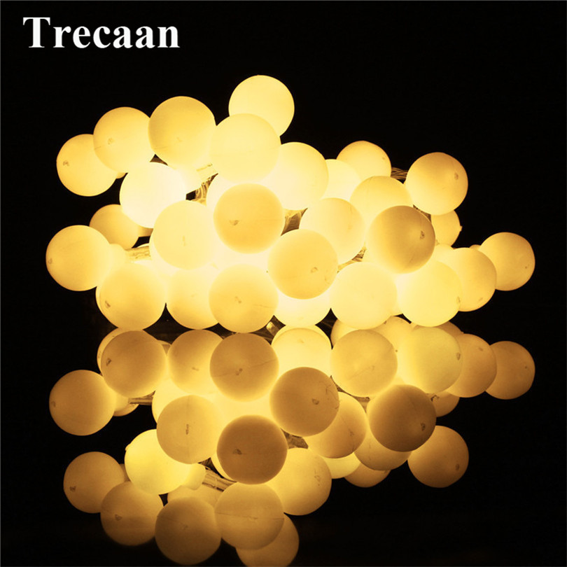 Trecaan 4M 40LEDs Battery Powered Outdoor Christmas Lights Holiday Wedding Party LED Strings Lights Christmas Decoration