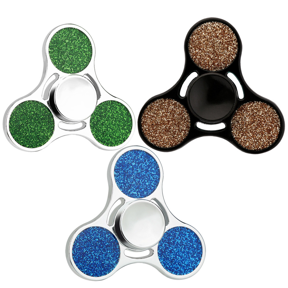 Leisure Puzzle Entertainment Fingertips Stress Reliever Hand Spinner Tri Fidget Ball Desk Toy EDC Stocking