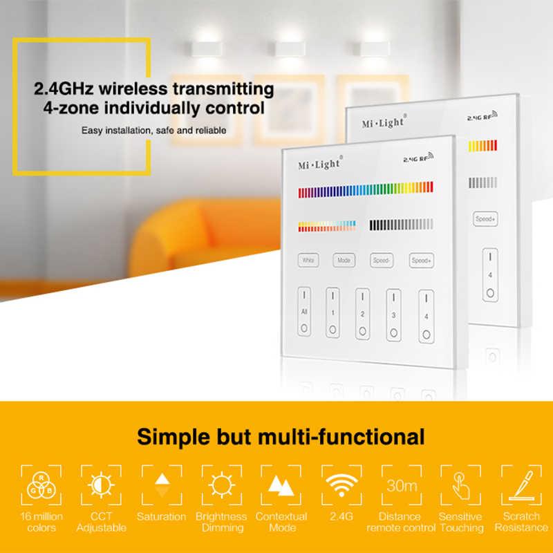 Milight T1/T2/T3/T4/B0/B1/B2/B3/B4/B8 luminosité/CT/RGB/RGBW/rvb + CCT 2.4G LED sans fil contrôleur