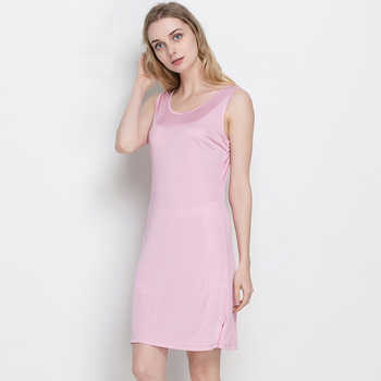 Summer Women 100% Real Silk Knitted Robes O-Neck Sleeveless Nightgowns Comfortable Breathable Female Robes 1041 - DISCOUNT ITEM  33% OFF All Category