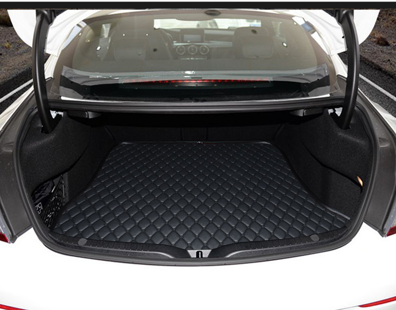lsrtw2017 fiber leather car trunk mat for mercedes benz c63 amg c200 c300 coupe car floor mat for c200 w204 c180 c200 c260 c300 carbon fiber car rear trunk lip spoiler wing for mercedes benz w204 c63 4 door 2008 2013 amg style