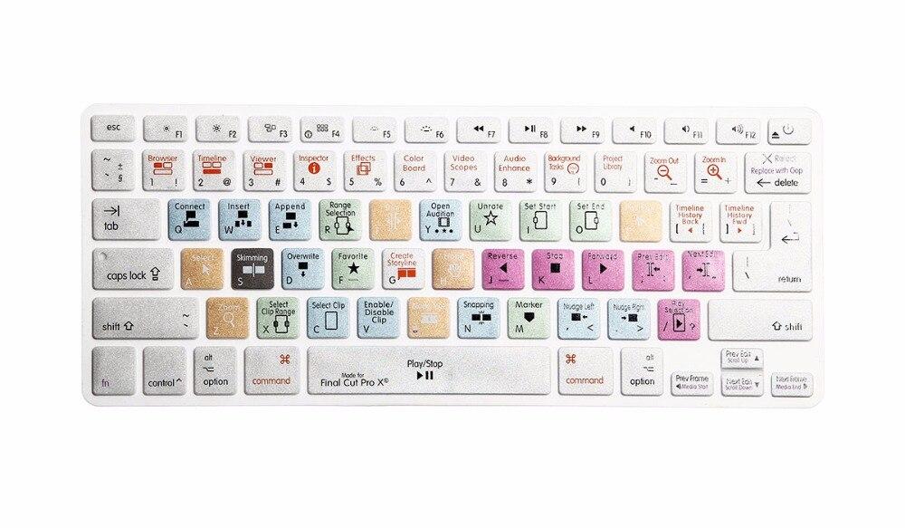 Funda impresa para Apple Final Cut Pro X teclado para MacBook Air ...