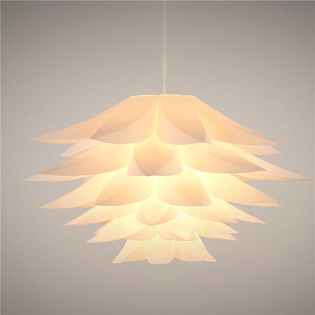 Flores de lírio moderno lustre pendente luzes pvc lotus abajur diy luminária luminarias led luminárias penduradas lâmpada e27