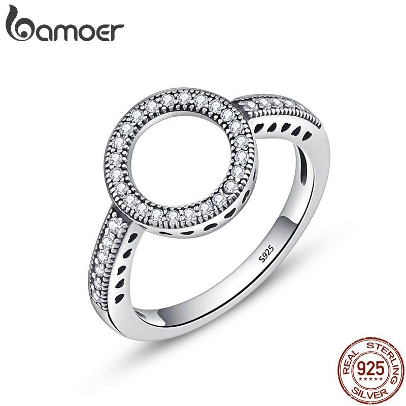 FLASH DEAL sólo $3,98 comprar un anillo obtener gratis CHOKE 925 siempre claro CZ negro círculo redondo anillos de dedo para las mujeres