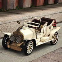 2 Kind of Color 1 Pic 35cm Metal Retro Car Model Classic Iron Car Toy Vintage Car Modeling for Prop Birthday Gift Art Collection