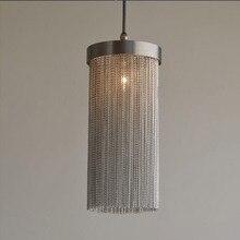 Французский Алюминиевый подвесной светильник-люстра с кисточкой, винтажная подвесная люстра из цепочек, подвесной светильник, подвесной светильник