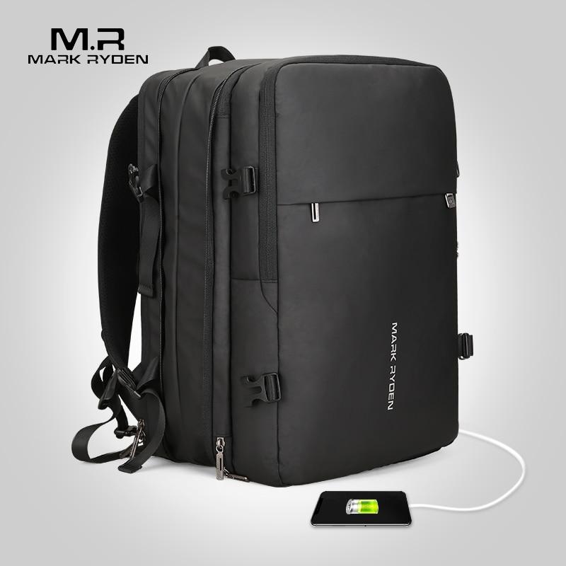 Дизайнерский мужской рюкзак с зарядкой через USB, с защитой от кражи, рюкзаки для путешествий, большая вместительность, мужская деловая сумка... - 2