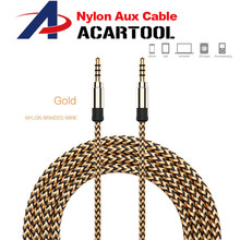 1m Aux Cable Jack 3.5mm Audio Cable 3.5mm Jack Speaker Cable Male to Male Car Aux Cord for Headphone AUX Cord(China)