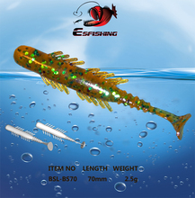 New BUGSY SHAD Fishing Lure Soft Artificial Baits 10pcs 7cm/2.5g Esfishing  Pesca Fishing tackle Crankbait Isca Popper Wobbler