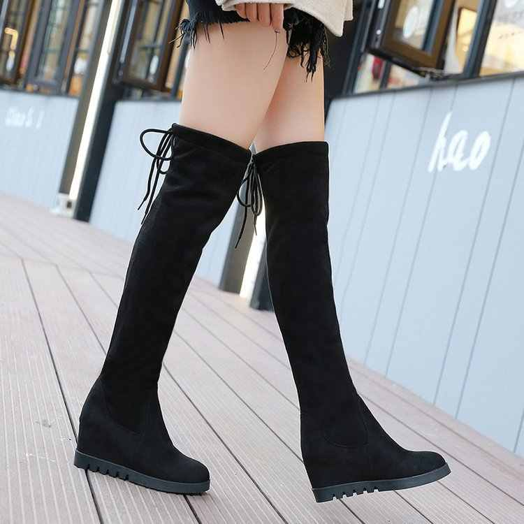 New Shoes Women Boots Black Over the Knee Boots Sexy Female Autumn Winter lady Thigh High Boots C323