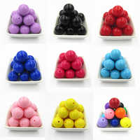Wholesale 6mm/8mm/10mm/12mm/14mm/16mm/18mm/20mm Acrylic Solid Chunky Beads (Choose Color/Size First)