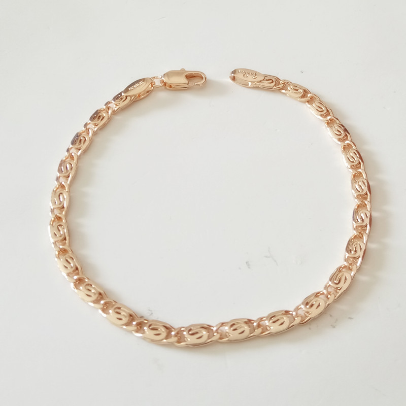 1 Piece New Trendy Rose Gold Color Jewelry 19CM Long Copper s