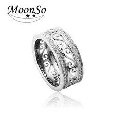 Кольцо обручальное Moonso 925 AAA CZ