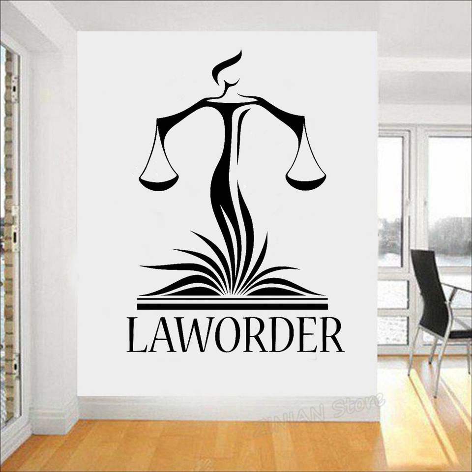 Law Office Wall Decor Decals Lawyer