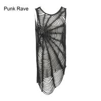 Punk Rave Womens Rock Top Shirt Vest With Spider Visual Kei Casual Harajuku Emo Summer Style