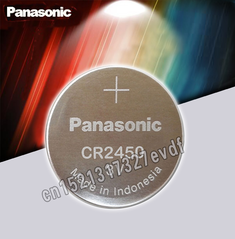 Original Panasonic CR2450 CR 2450 3V Lithium Button Cell Battery Coin Batteries For Watches,clocks,hearing Aids