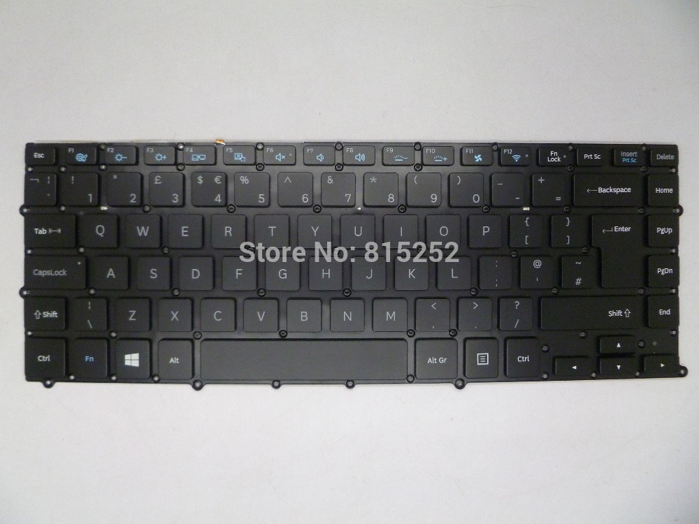 Laptop Keyboard For Samsung 900X4B 900X4C 900X4D UK-United Kingdom BA5903865A HMB8811GSB With Backlit And Without Frame laptop keyboard for acer silver without frame united kingdom uk v 121646ck2 uk aezqse00110