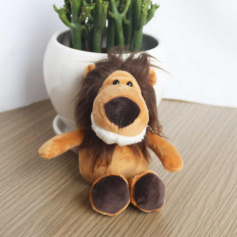 Милый мультфильм животных плюшевая игрушка брелок Брелок на рюкзак 15 см маленький подарок пара крокодил Бегемот Лев волк енот Леопард 2019
