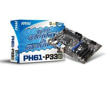 Msi motherboard ph61-p33 b3 LGA 1155 DDR3 USB2.0 VGA large-panel