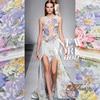Jin Hongfu Silk Cheongsam Dress Cloth Bedding Fabric Silk Printing Satin Shiny Flower