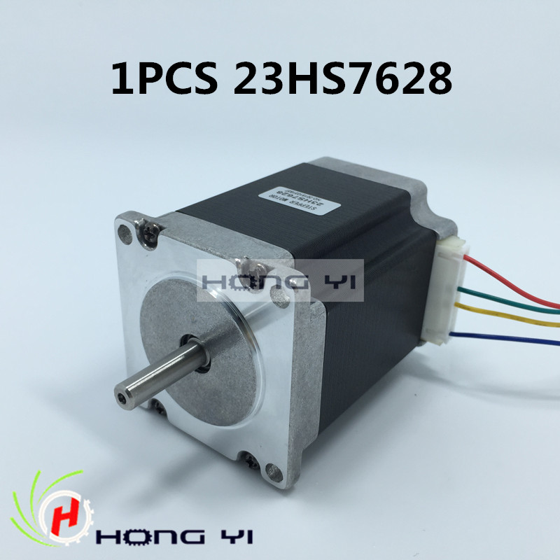 1PC Nema23 Stepper Motor 23HS8430 4-Lead 270oz-in 76mm 2.8A Bipolar CE ISO ROHS CNC Router Engraving Machine act motor 1pc nema23 stepper motor 23hs8430 4 lead 270oz in 76mm 3 0a bipolar ce iso rohs us ca uk de it fr sp be jp free