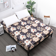 Waterproof mattress Spring all inclusive bed cover Separates baby urine printed flower Bed single double fitted sheet