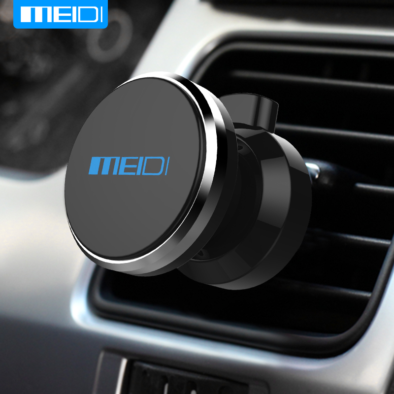 MEIDI Car Phone Holder 360 Degree Adjustable Air Vent Magnet  Mount Holder Soporte Movil  For iPhone 6 7 Mobile Car Phone Stand baseus universal car air vent phone holder 360 degree rotation