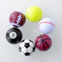 Спортивные мячи для гольфа двойной мяч для гольфа лучший подарок для друга Новинка Ассорти креативный Чемпион спортивные мячи для гольфа ц...