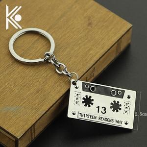 New design 13 Thirteen Reasons Why jewelry key chain Fan club gift