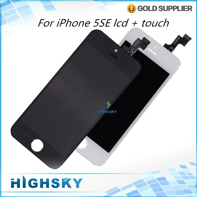 100% Tested For iPhone SE LCD 5SE Screen Display + Touch Digitizer glass panel full Assembly Black White 1 Piece Free Shipping