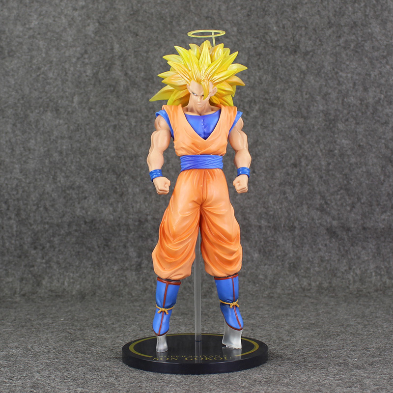 12 30cm Super Saiyan Figures Dragon Ball Goku Gouku PVC Action Brinquedos Free Shipping anime dragon ball super saiyan 3 son gokou pvc action figure collectible model toy 18cm kt2841