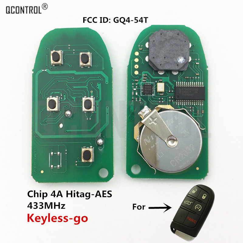 QCONTROL Car Remote Control Key Circuit Board For DODGE/Chrysler/JEEP Grand Cherokee Proximity Comfort-access Keyless-go 4A Chip