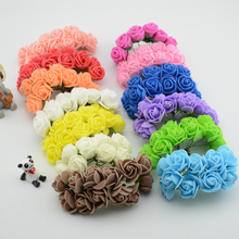 144pcs lot Simulation Mini Rose Artificial flower foam flower flower ball garland headdress wedding decoration Bridal