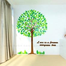 цена на Creative tree 3d crystal wall sticker Kindergarten cartoon children's room Bedroom TV background self-adhesive wallpaper