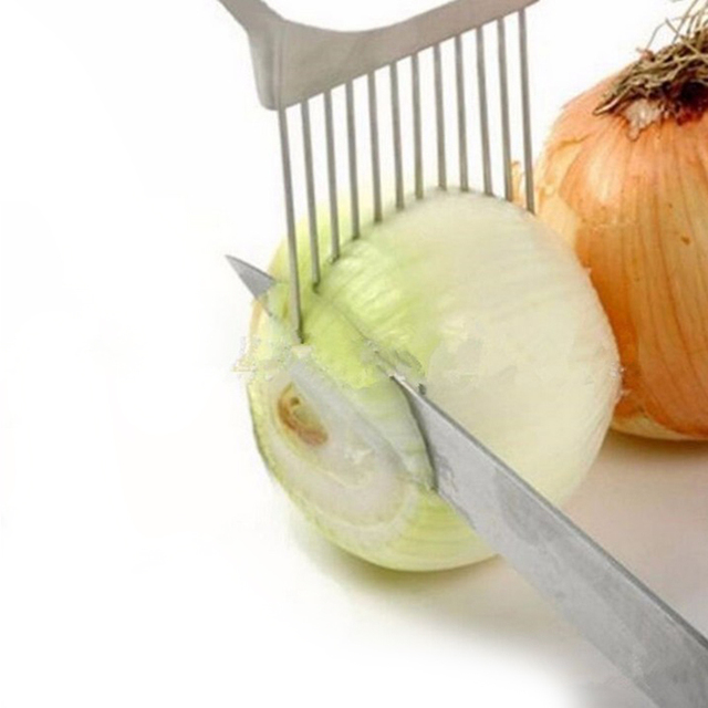Shrendders & Slicers Tomato Onion Vegetables Slicer Cutting Aid Holder Guide Slicing Cutter Safe Fork Kitchen Gadget Accessories