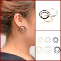 silver gold plated hoop earrings for women small earrings circle big black hoop earings orecchini cerchio round huggie earrings