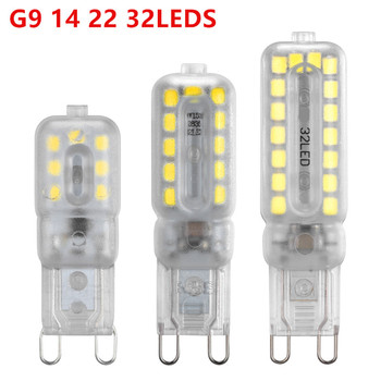 Mini 14 22 32LEDS G9 lampa kukurydza oświetlenie SMD2835 220V 230V 240V G9 żarówka LED wysokiej jakości żyrandol światło wymienić lampa halogenowa tanie i dobre opinie Dfiolk CN (pochodzenie) ROHS Z certyfikatem VDE bezpieczeństwo Z certyfikatem BQE JRL (JAPAN RADIO LAW) UN38 3 SASO NONE