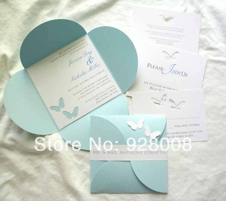 invitation card stock paper Picture More Detailed Picture about – Butterfly Wedding Invitation Cards