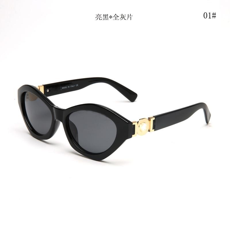 2018 New fashion sunglasses metal leather decoration frame luxury brand designer women mirror sunglasses men uv400 shades V4334