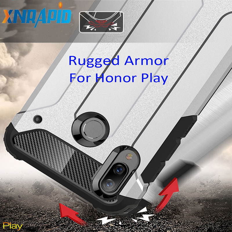 Drop resistance Rugged Armor Case For Huawei Honor Play Hybrid Shield anti hit Cover