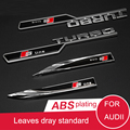 2 ШТ. Посвященный Audii Turbo Стандарт Sline Сторона Fender Наклейки Флаг Автомобиль Поставок Модификации Автомобиля Аксессуары