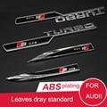 2 UNIDS Dedicado Al Audii Turbo Estándar Sline Side Fender Pegatinas de Coches Bandera Suministros Modificación Del Coche Accesorios