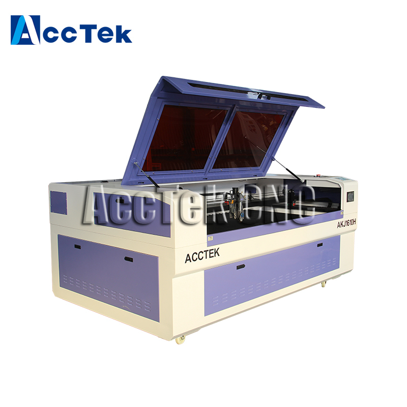 High Precision AKJ1610H Carbon Steel Stainless Steel Metal And Nonmetal Co2 Laser Cutting Machine