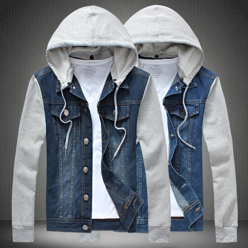 Online Get Cheap Hooded Jean Jacket for Men -Aliexpress.com ...