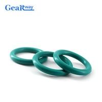 Gearway зеленый FKM кольцо прокладка 4 мм CS O кольцо-уплотнитель 12/13/14/15/32/33/34mm OD сопротивление масла уплотнительное кольцо шайба