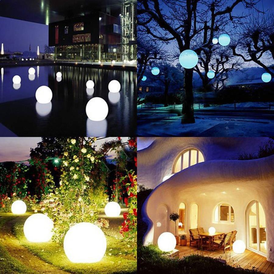 7 krāsu RGB LED peldošās maģiskās bumbiņas led apgaismojuma - Nakts gaismas - Foto 5