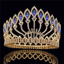 Hair Jewelry Wedding-Crown Queen Pageant Bridal Tiaras Crystal Diadem Pink Fashion Metal