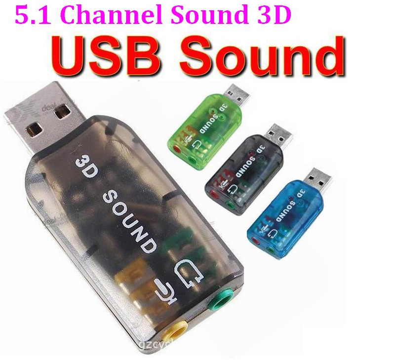 USB to 3D Audio USB External Sound Card Adapter 5 1 Channel Sound Professional Microphone 3